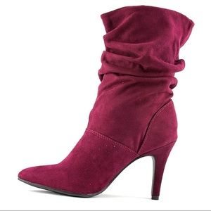 Style & Co. Adelay Suede Mid-Calf Fashion Boots